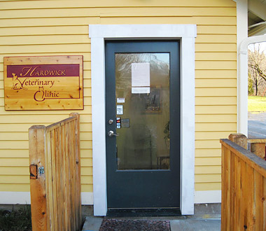 Hardwick Veterinary Clinic is located in downtown Hardwick, Vermont
